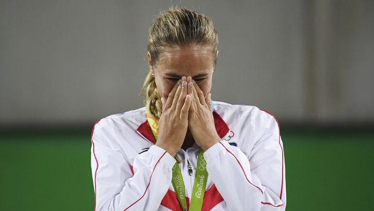 Суббота. Рио-де-Жанейро. Слезы счастья олимпийской чемпионки Моники ПЮИХ. Фото REUTERS