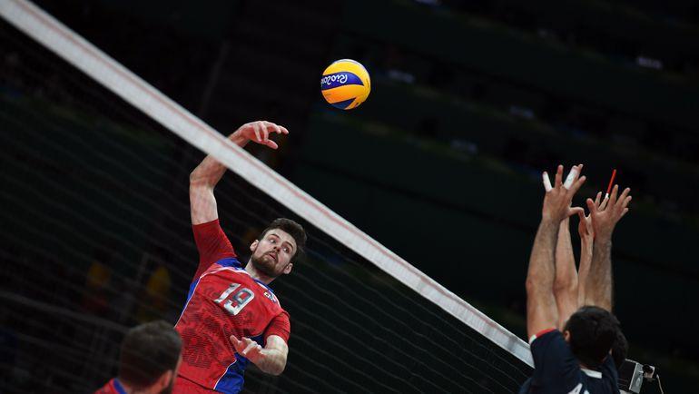 Сегодня. Рио-де-Жанейро. Россия - Иран - 3:0. В игре Егор КЛЮКА. Фото AFP