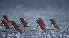 Водный барьер.   Как ливень в Рио чуть не сорвал легкоатлетические соревнования
