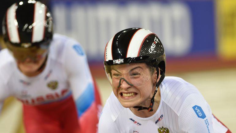 Дарья ШМЕЛЕВА (справа) и Анастасия ВОЙНОВА в Рио стали вторыми в командном спринте. Фото AFP