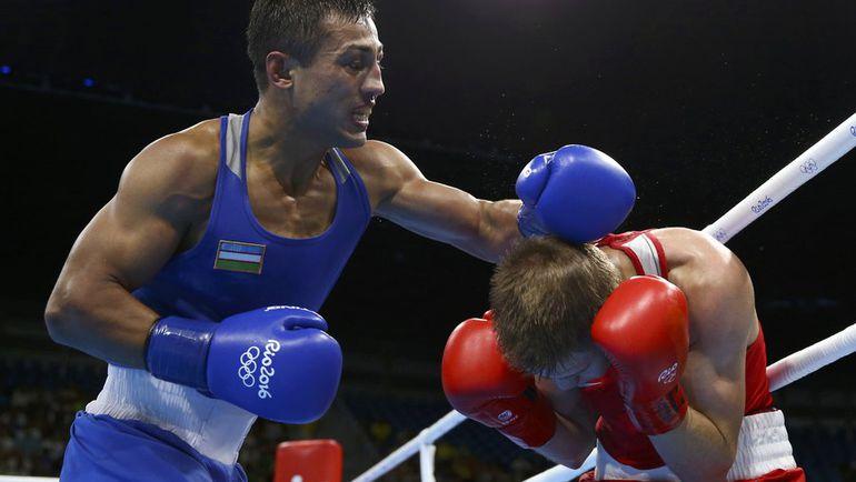 Виталий ДУНАЙЦЕВ (справа) против Фазлиддина ГАЙБНАЗАРОВА. Фото REUTERS