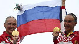 Знаменосцы сборной России на закрытии Олимпиады