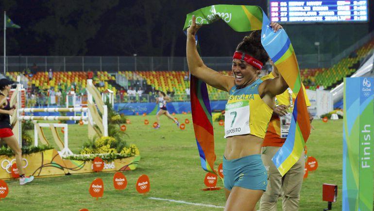 Хлое ЭСПОЗИТО - чемпионка Рио-2016 в современном пятиборье. Фото REUTERS