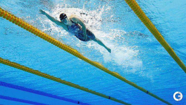 Одна из рекордсменок Рио - американка Кэти ЛЕДЕКИ.