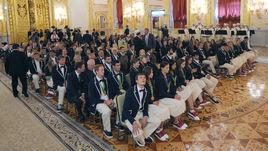 Олимпийцев наградили в Кремле