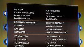 Сегодня. Монако. Табло жеребьевки Лиги Европы.