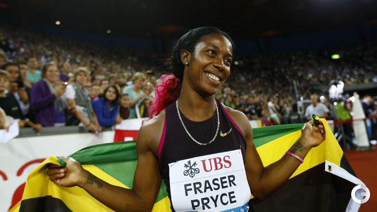 Шелли-Энн ФРЭЙЗЕР-ПРАЙС, Ямайка - 10,70 (Кингстон, 2012). Фото REUTERS