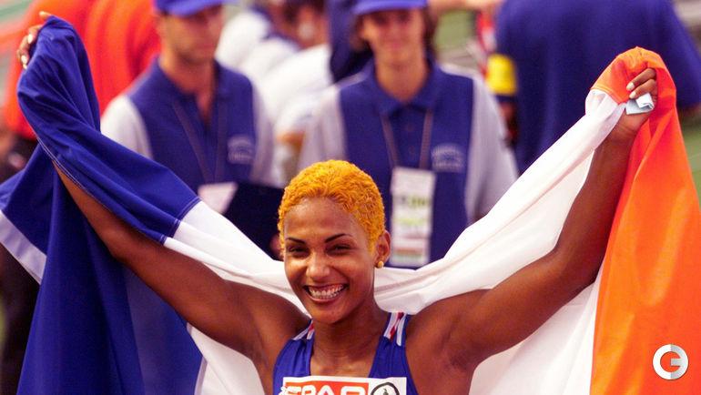 Кристин АРРОН, Франция - 10,73 (Будапешт, 1998). Фото REUTERS