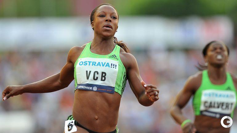 Вероника КЭМПБЕЛЛ-БРАУН, Ямайка - 10,76 (Острава, 2011). Фото AFP