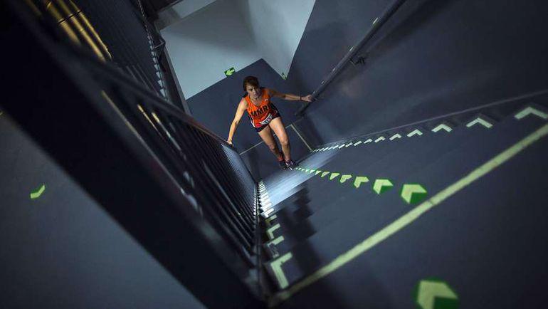Забег по лестницам Эмпайр-стейт-билдинг. Фото AFP