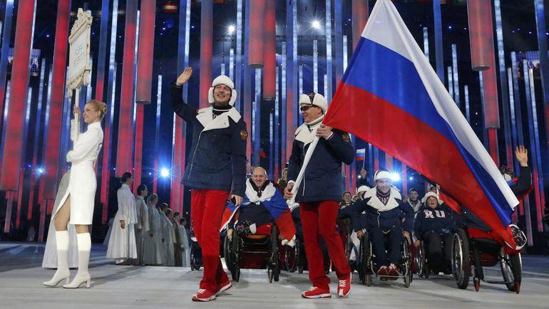 Сборная России на церемонии открытия Паралимпиады-2014 в Сочи. Фото REUTERS