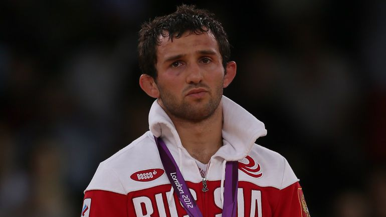 11 августа 2012 года. Лондон. Бесик КУДУХОВ после финала Игр-2012. Фото AFP
