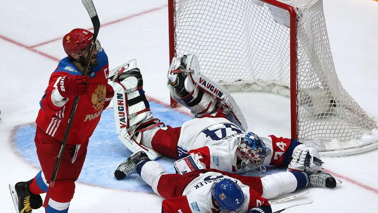 СборнаяРФ похоккею обыграла Чехию втоварищеском матче передКМ