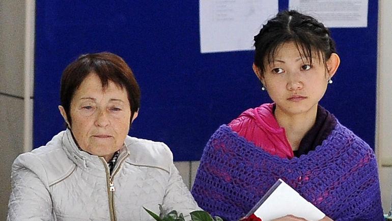 "Тамара МОСКВИНА и Юко КАВАГУТИ. Фото Федор УСПЕНСКИЙ, ""СЭ"""