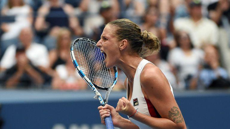 Каролина ПЛИШКОВА в финале US Open-2016. Фото AFP