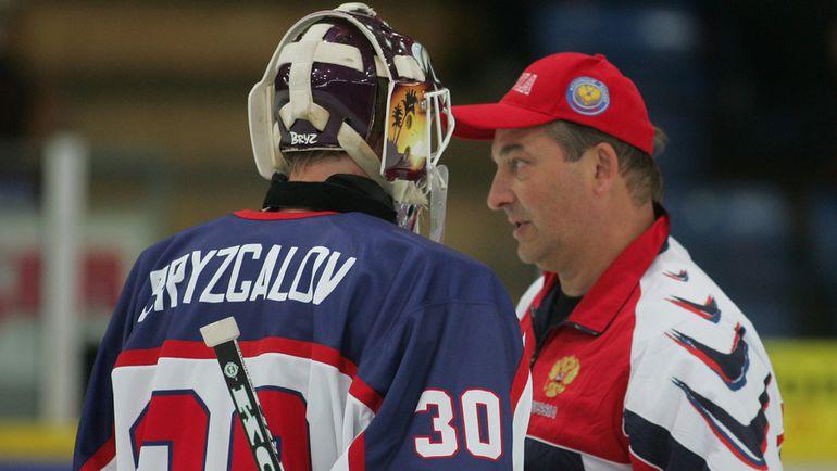 Илья БРЫЗГАЛОВ (слева) и Владислав ТРЕТЬЯК на Кубке мира-2004. Фото Владимир БЕЗЗУБОВ