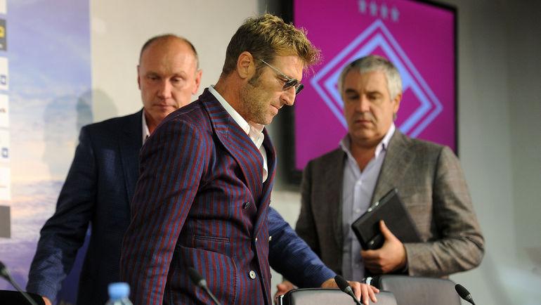"""Сергей РОДИОНОВ (слева) и Массимо КАРРЕРА. Фото Алексей ИВАНОВ, """"СЭ"""""""