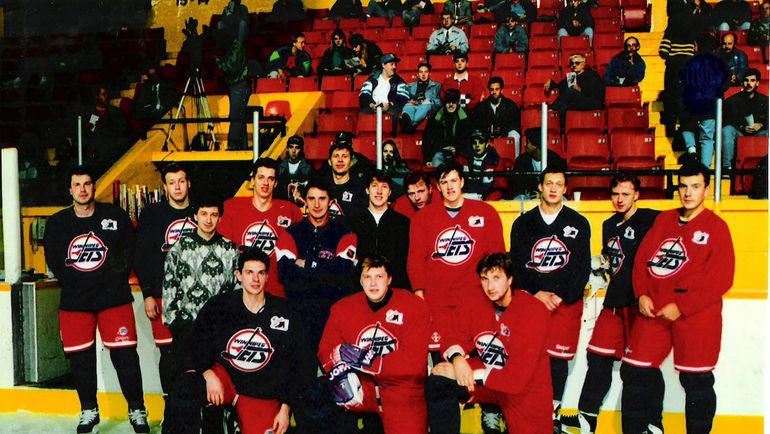 """Тренировочный лагерь """"Виннипега"""" в 1993 году."""
