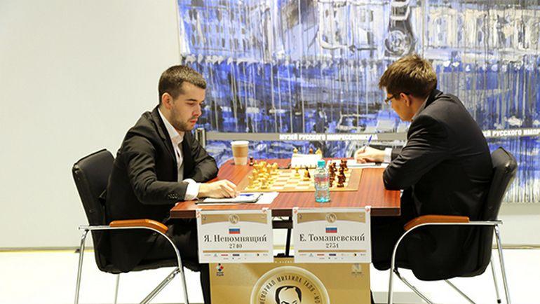 Лидеры сыграли вничью врамках 5-ого тура шахматного мемориала Таля