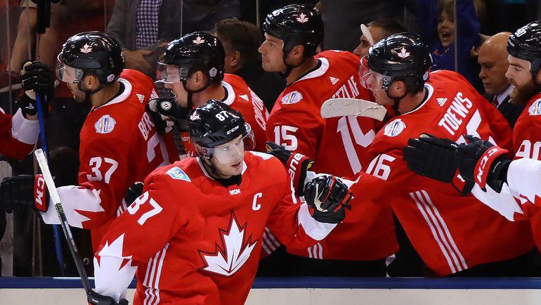 Капитан сборной Канады форвард Сидни КРОСБИ. Фото AFP