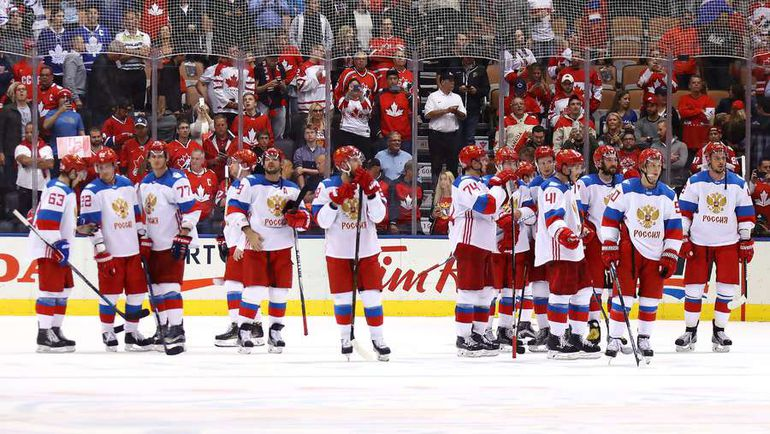 Сборная России проиграла в полуфинале Кубка мира Канаде. Фото AFP