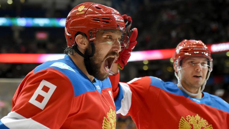 Нападающие сборной России Александр ОВЕЧКИН и Евгений КУЗНЕЦОВ. Фото USA TODAY Sports