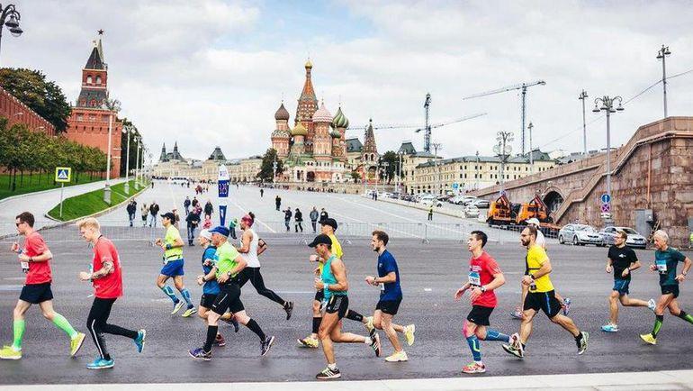 На дистанции марафона. Фото Пресс-служба Промсвязьбанк Московский Марафон