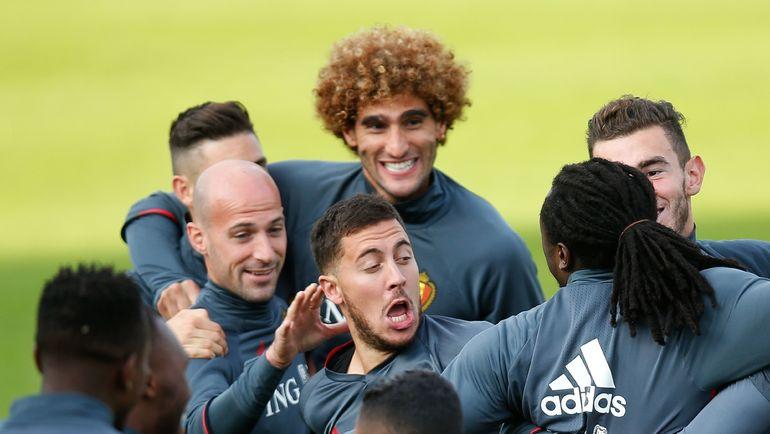 Игроки сборной Бельгии. Фото AFP