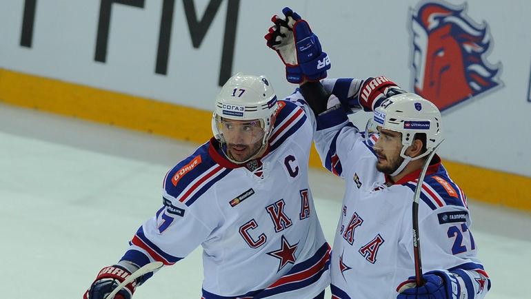 Хоккеисты СКА разгромили новокузнецкий «Металлург» вматче чемпионата КХЛ