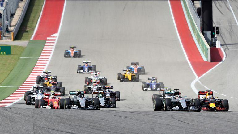 "Старт ""Гран-при США"". Фото AFP"