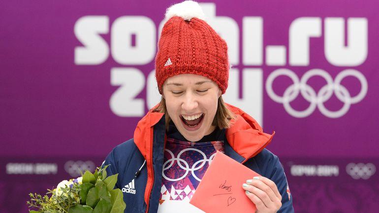 Олимпийская чемпионка Сочи по скелетону Элизабет ЯРНОЛЬД. Фото AFP