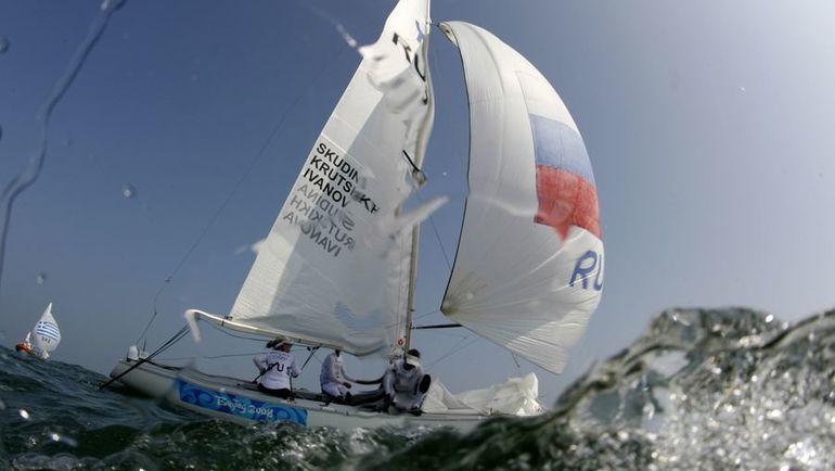 Яхта Екатерины СКУДИНОЙ на Олимпийских играх-2008 в Пекине. Фото REUTERS