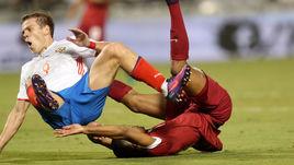 Сегодня. Доха. Катар - Россия - 2:1. Падение Александра КОКОРИНА.