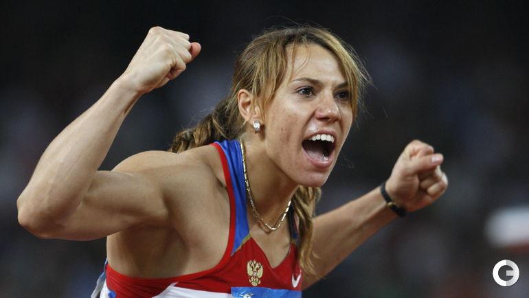 Мария АБАКУМОВА, легкая атлетика (копье). Место - 2-е (Пекин-2008). Препарат - туринабол. Фото AFP