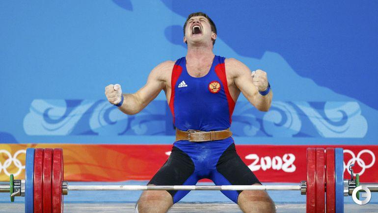 Хаджимурат АККАЕВ, тяжелая атлетика. Место - 3-е (Пекин-2008). Препарат - туринабол. Фото REUTERS
