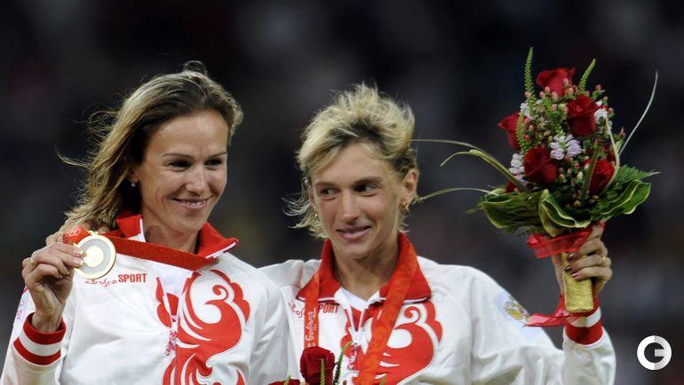 Екатерина ВОЛКОВА (справа), легкая атлетика (3000 м/п). Место - 3-е (Пекин-2008). Препарат - туринабол. Фото REUTERS
