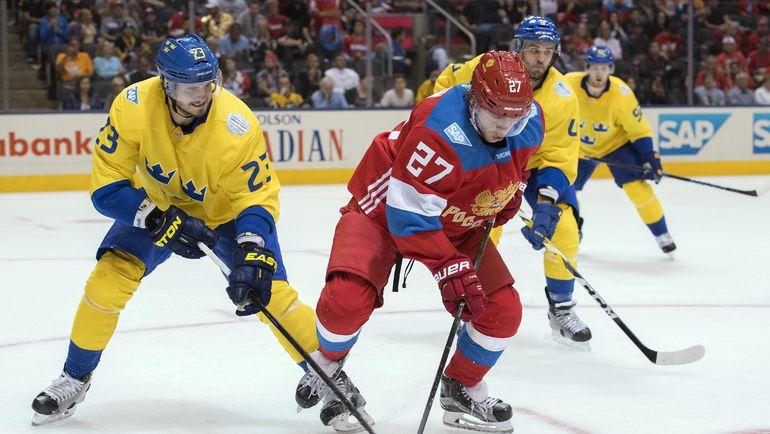 Артемий ПАНАРИН (№27) на Кубке мира. Фото USA TODAY Sports