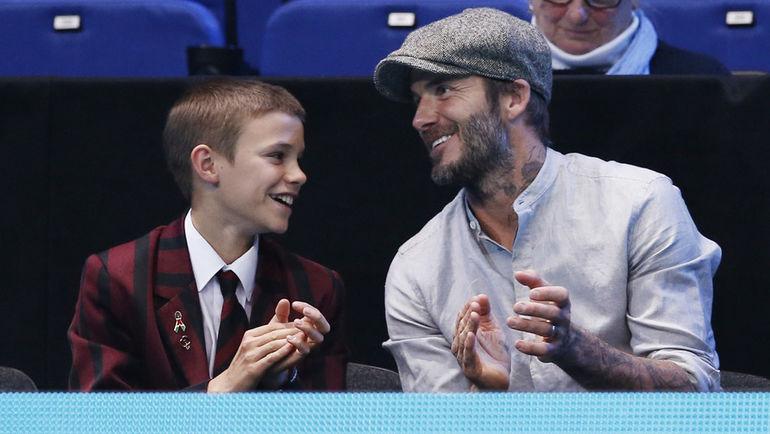Дэвид БЕКХЭМ (справа) с сыном Ромео. Фото REUTERS