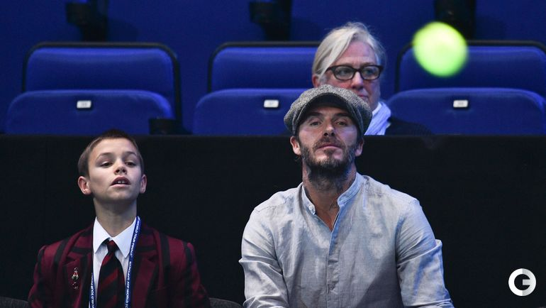 Дэвид БЕКХЭМ (справа) с сыном Ромео.