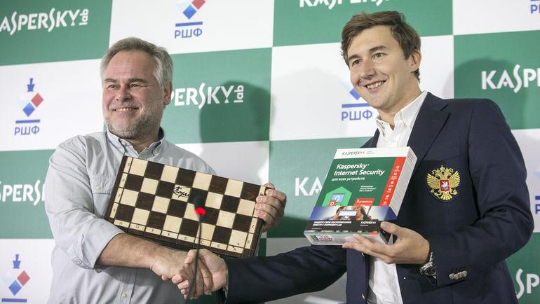 Евгений КАСПЕРСКИЙ и Сергей КАРЯКИН.