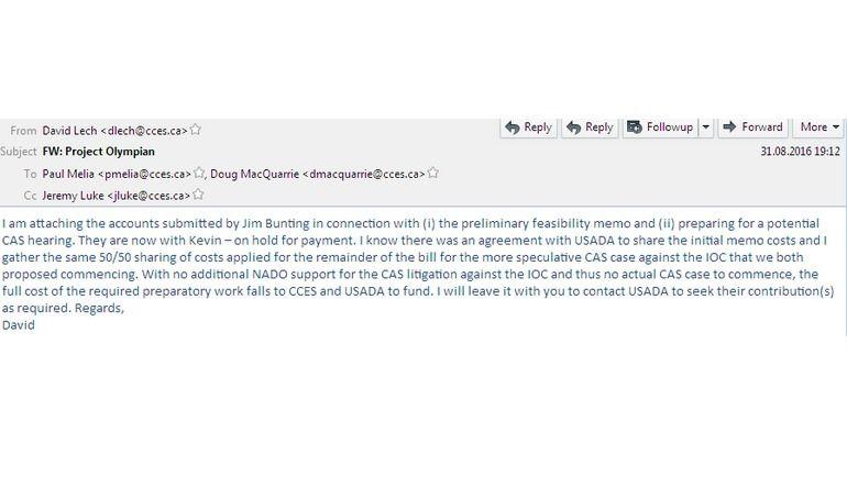 Письмо генерального консультанта CCES Дэвида Леха руководству организации. Фото fancybears.net