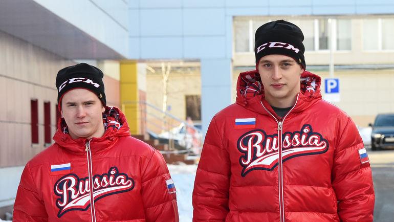 Максим ШАЛУНОВ и Сергей ШУМАКОВ. Фото Владимир БЕЗЗУБОВ, photo.khl.ru