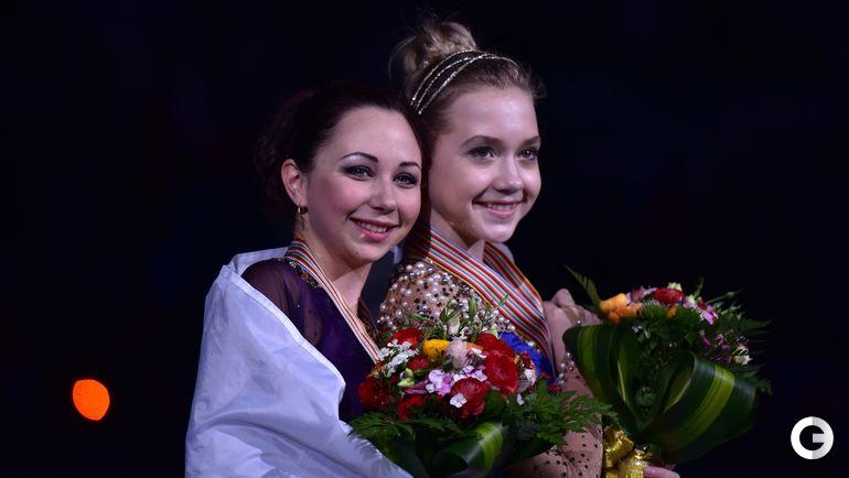 2015 год. Елизавета ТУКТАМЫШЕВА и Елена РАДИОНОВА (справа). Фото AFP