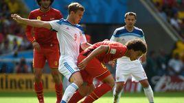 22 июня 2014 года. Рио-де-Жанейро. Бельгия - Россия - 1:0. В борьбе будущие партнеры по