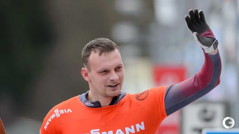 Томас ДУКУРС (Латвия, скелетон). Фото AFP