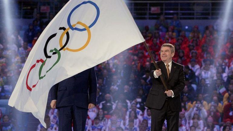 23 февраля 2014 года. Сочи. Президент МОК Томас БАХ на закрытии Игр-2014. Фото REUTERS