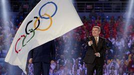 23 февраля 2014 года. Сочи. Президент МОК Томас БАХ на закрытии Игр-2014.