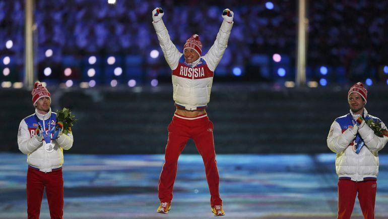 Максим ВЫЛЕГЖАНИН, Александр ЛЕГКОВ и Илья ЧЕРНОУСОВ. Фото REUTERS