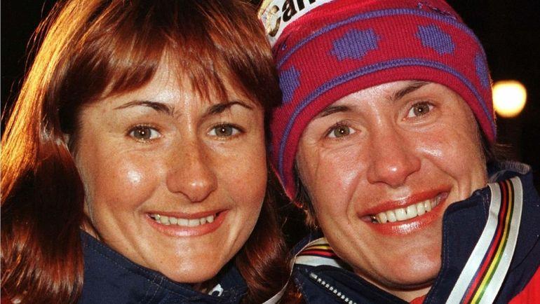 Февраль 1997 года. Тронхейм. Елене ВЯЛЬБЕ (слева) и Любовь ЕГОРОВА. Фото REUTERS