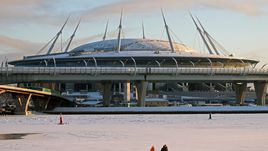 Декабрь. Санкт-Петербург. Так сейчас выглядит новая арена.